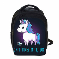 Wholesale Backpack Pictures - Children Shoulder School Bag Different Variations Unicorn Lovely Primary Students Teenager Backpacks Private Picture Customized