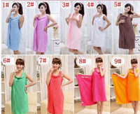 Wholesale Fasting Spa - Bath Towel Lady Girl Sexy Wearable Towels Fast Drying Magic Bath Towel Beach Spa Bathrobes Bath Skirt Beach Spa Bathrobes 11 Color