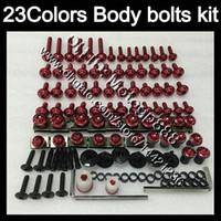 Wholesale Gsxr Grey - Fairing bolts full screw kit For SUZUKI GSXR600 GSXR750 01 02 03 GSXR 600 750 GSX R600 2001 2002 2003 Body Nuts screws nut bolt kit 23Colors