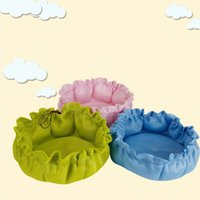 Wholesale dog kennel puppy - Multi Function Pet Mesh Kennel Portable Pull Rope Design Cat Dog Houses Round Breathable Puppy Sleeping Mats Fashion 9 6kr3 B