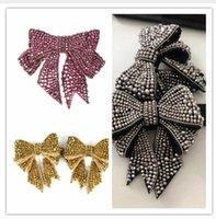 cheville bow talons hauts achat en gros de-Luxe Design Noir verni cheville sangle Gladiateur Sandales Femmes Grand Bow Strass Stiletto Haut talons Parti Robe Chaussures