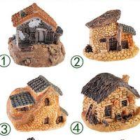 ingrosso case in miniatura da fiaba-1Pcs 8 Stili Casa in pietra Fairy Garden Miniature Craft Micro Cottage Figurine Mini Landscape Decoration For DIY Resin Crafts