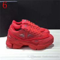 Wholesale R Medium - RAF SIMONS CONSORTIUM OZWEEGO 2 CASUAL SHOES SNEAKERS WITH R LOGO FOR MEN WOMEN 2018 ALL RED SNEAKERS SIZE 36-45