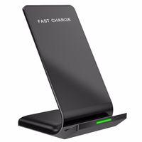 carregador para iphone dock para carregador venda por atacado-Para iphone 8 x xr xs max samsung s8 s9 além de carregamento rápido sem fio carregador de suporte dock pad titular