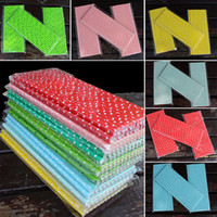 Wholesale friendly environment - 19.7cm Disposable Bubble Rainbow Drinking Paper Straws Dot Environment Friendly Kraft Paper Straw For Bar Birthday Wedding Party WX9-697