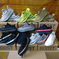 Wholesale soccer baseball - 2018 Sply Boost V2 Semi Frozen Cream White Zebra Bred Black Red Beluga Kanye West Running Shoes Sport Sneakers