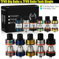 Wholesale wholesale stick pack - Top quality TFV8 Big Baby & Baby Tank Single Pack 5ml 3ml Airflow Control V8 Beast Coils Atomizers Stick Vape mods e cigarettes Vaporizer