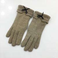 ingrosso cadono i guanti invernali-Fashion Womens Winter Wool Fall Warm Mittens Cotton Girl Five-Finger Guanti Tactical Plush Thick Keep Warm Guanti