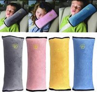 Wholesale kids car harness - Universal baby Car Cover Pillow children Shoulder Safety Belts kids Strap Harness Protection seats Cushion 100 p
