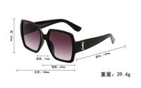 visages lunettes achat en gros de-55931 Lunettes de soleil neuves pour femmes, monture noire, monture oversize