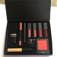Wholesale lipstick pens wholesale - New Brand SARAH MOON makeup high quality persistent cosmetic sets 10 in 1 makeup big box blush concealer lipstick lip pen brush