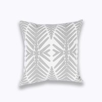 Wholesale cotton canvas pillow cover wholesale online - Home Decor Emboridered Cushion Cover Light Grey Geometric Canvas Pillow Case Cotton Suqare Embroidery Pillow Cover x45cmAEI
