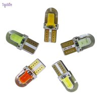 Wholesale 194 cob - 10pcs lot New Arrival T10 194 168 W5W COB 8SMD 1W canbus Silicone Super Bright LED Turn Side License Plate Light Lamp Bulb DC12V