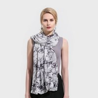 Wholesale Lightweight Fashion Scarves - Winfox New Brand Fashion Lightweight Soft White Marble Pattern Belong Scarf Foulard Echarpe Scarves For Womens Ladies Gifts