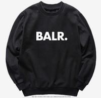 мужские толстовки с капюшоном оптовых-Мужская мода одежда толстовки топы весна осень пуловеры с капюшоном кофты повседневная BALR дизайн топ