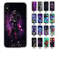 telefono real al por mayor-Fornite Battle Royal Phone Case para Samsung S8 S9 Plus Soft Slim TPU contraportada OEM DIY 3D Carcasas de impresión de dibujos animados para Iphone X 6 7 8 PLUS