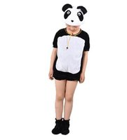 Wholesale free cosplay for sale - 2018 New style children Cosplay Giant panda lion Pink Elephant Animal perform clothing Boys and girls Dance Conjoined clothes ZX10