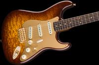 versand e-gitarre großhandel-Custom Shop Artisan Leichter Erle Körper w / Tamo Ash Top Birdseye Mapme Hals Schokolade Verblassen E-Gitarre / Freies Verschiffen