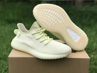 Wholesale real hard - 2018 Newest Sply 350 V2 Butter Beluga 2.0 Zebra White Cream Bred Beige Copper Real Boost Kanye West Running Shoes