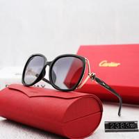 klassisches italienisches design großhandel-mit Box Sonnenbrille verkauft italienische Marke Sonnenbrille Frauen 2383 Vintage Square klassische Sonnenbrille Luxus Original Design Gläser