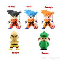 mémoire flash de dessin animé usb achat en gros de-Dessin animé mignon Dragon Ball Pendrives 5 couleurs Clés USB flash Goku Singe Stylo Cadeau Clé USB 8GB Memory Stick U44