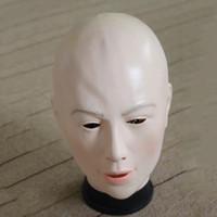 реалистичные женские латексные маски оптовых-Реалистичная Женская Маска Для Хэллоуина Человека Женский Маскарад Латекс Маска Сексуальная Девушка Кроссдресс Костюм Косплей Маска