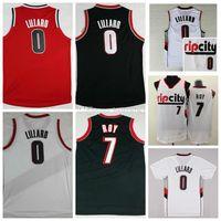 Wholesale brandon shirts - Sale RipCity 0 Damian Lillard Jersey Men 7 Brandon Roy Shirt Rip City Uniforms Rev 30 New Material Team Color Retro Red White Black