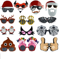 Wholesale funny sunglasses for sale - Masquerade party cartoon Decoration Sunglasses personality festival Decoration Funny fashion Glasses Party Favor Christmas glasses FFA463