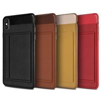 kartenhalter für handy großhandel-Luxus Leder Handyhülle für Iphone XS max Xr x 6S 7 8 PLUS Brieftasche Kreditkartenhalter Ständer für SAMSUNG NOTE 8 9 S8 S9 S10 PLUS