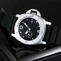 Wholesale military diving watches - Military Luxury Brand Firenze Pam Men's Watch 00682 Stainless Steel Acciaio Retro Rubber Watches 30m waterproof Diving watch 01389