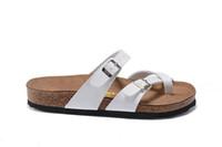 ingrosso pantofole marroni per le donne-805 Mayari Arizona Gizeh Vendita calda estate Uomo Donna con sandali marrone appartamenti Cork pantofole scarpe casual unisex stampa colori misti taglia 34-45