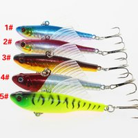 Wholesale big fishing lures hard plastic for sale - Group buy Fishing Lures Hook Simulation Bait Camping Euipment Tool Transparent Fins Plastic Artificial Fake Baits Mini Colorful dq bb