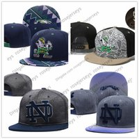 Wholesale new fighting resale online - NCAA Notre Dame Fighting Irish Caps New College Adjustable Hats All University Snapback Gray Black Navy Blue Green UND