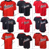 Wholesale world games - 2018 All Star Game Personalized Jersey Mens Womens Youth American National League Team World USA Navy Red Any Name Any Number S-XXXL