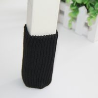 floor covering wholesalers 2018 - Trendy Hot 4PCs Furniture Chair Leg Cover Pad Chair Foot Sleeve Anti-Slip Floor Knitting Sock Table Feet Mat Protector