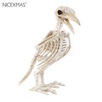 Wholesale skeletons props - New Year Crazy Bone Skeleton Raven 100 %Plastic Animal Skeleton Bones Horror Christmas Prop Bird Crow Skeleton Decoration