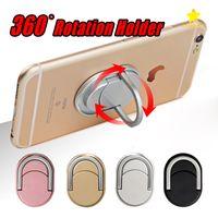 iphone einzigartiger inhaber großhandel-Metallring-Telefonhalter mit Ständer Einzigartiger Mix-Stil-Handyhalter Mode für iPhone 7 Plus Universal All Cellphone mit Kleinpaket