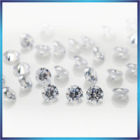 Wholesale gems loose stones for sale - Group buy 8mm mm A Sample White Round Machine Cut Lab Created Loose Cubic Zirconia CZ Stone Synthetic Gems For Jewelry DIY