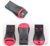 mikro usb 128gb toptan satış-USB TF Kart Okuyucu USB 2.0 Mikro SD T-Flash TF M2 Hafıza Kartı Okuyucu Yüksek Hızlı Adaptörü 4 gb 8 gb 16 gb 32 gb 64 gb 128 gb TF Micro SD Kart