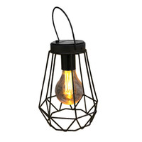 Wholesale hunting light bulbs - Solar Yellow Light Night Lamp Imitation Oil Lamp Style Hunting Outdoor