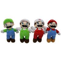 Wholesale toys children mario bros for sale - 4 design Super Mario Bros Plush Toys Mario Lugi Stuffed Dolls Toys Gift for Children cm Super Mario PLUSH DOLL KKA5883