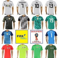 Wholesale Mario Football - Germany Jersey 2018 World Cup Soccer 16 Philipp Lahm 8 Mesut Ozil 19 Mario Gotze 11 Marco Reus 5 Mats Hummels Football Shirt Uniform Kits