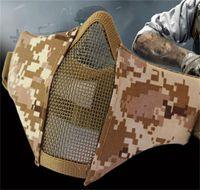 eisen cowboy großhandel-Halbes Gesicht Stahl Maske Tactics Outdoor Ausrüstung Eisen Net Schützen Kreative Weiche Belüftung Reit Masken Flexible Einstellbar 28yd jj