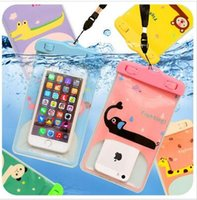 Wholesale pink cell phone pouch - 5.5inch universal Waterproof Bags for Iphone 6 plus Waterproof case SAMSUNG Galaxy s6 s5 mobile phones waterproof bag cell phone proof bags