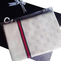 pamuk bebek şal toptan satış-Klasik tabela G rahat pamuk örgü bebek ve çocuk sıcak battaniye 112 * 90 cm Yeni varış burcu G battaniye şal Noel hediyesi
