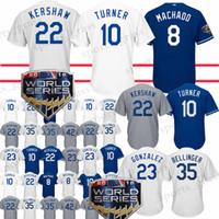 Wholesale kershaw baseball online - High quality Los Angeles Dodgers Jersey Clayton Kershaw Manny Machado Justin Turner Adrian Gonzalez Yasiel Puig jersey