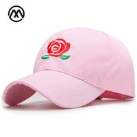 Wholesale arc products - Exquisite Rose Embroidered Baseball Caps Hat Men's Snapback Adjustable Cotton Hip-Hop Unisex Simple Hat Arc 2018 New Products