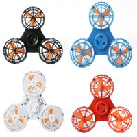 Wholesale newest toys - Newest Flying Fidget Spinner Hand Flying Fidget Spinner Flying Spinning Top Toy For Autism Anxiety Stress Release Toy Great funny Gift z189