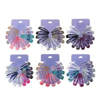 Wholesale kids hair snaps for sale - 24Pcs Set Print Hair Clips For Girls Kids Snap Clip Metal Colorful Hairgrip Headwear Beautiful