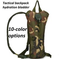 Wholesale military water backpack resale online - Military Tactical Hydration Water Backpack Outdoor Travel Cycling cCamouflage Tactical Molle Hydration Pack Bag With L Bladder